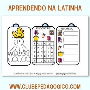 Foto3 - Coleção de atividades de alfabetização aprendendo na latinha