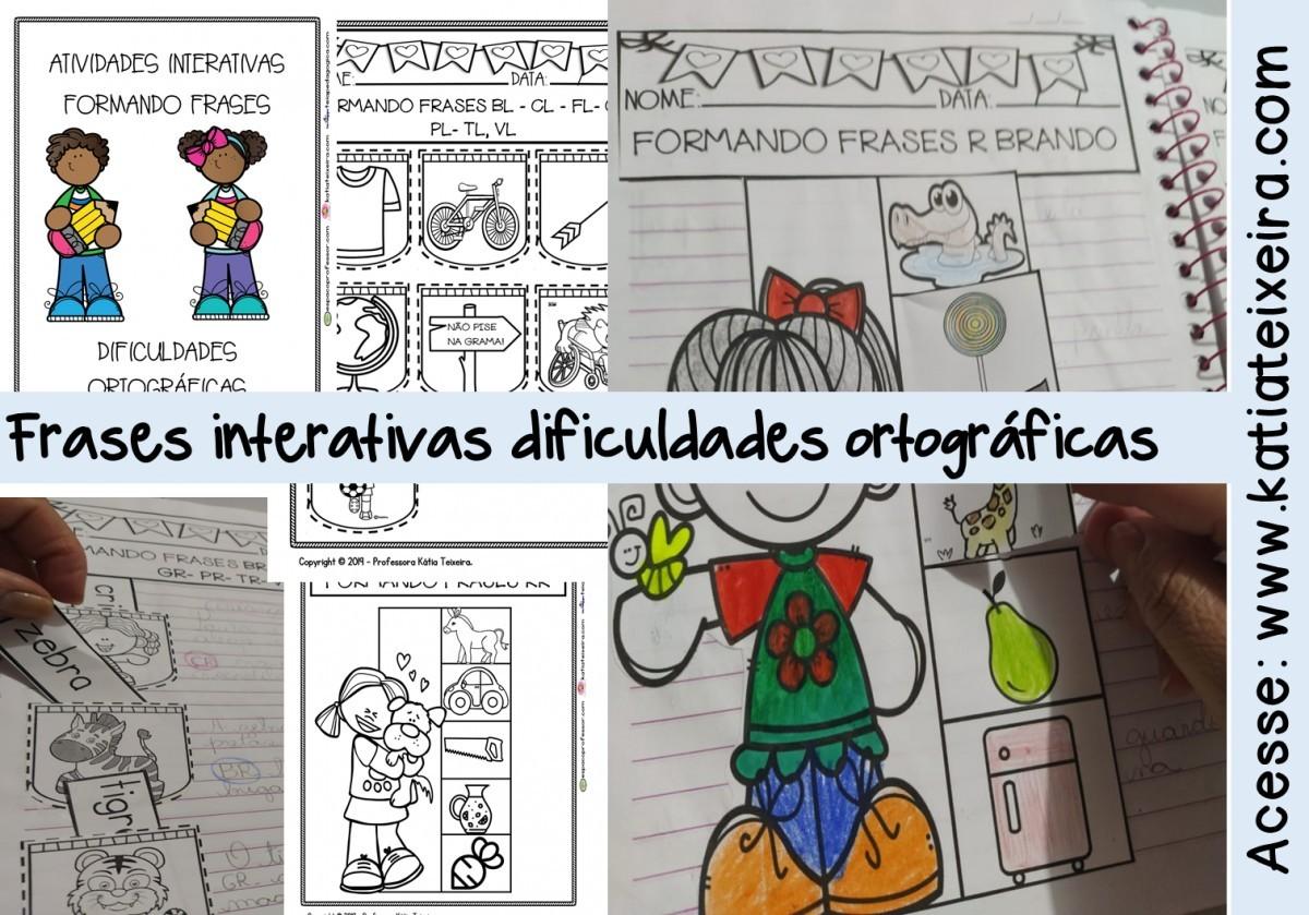 Foto 1 - Construindo frases interativas dificuldades ortográficas