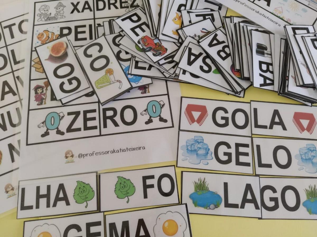 Foto 1 - Jogo para alfabetização palavras dissílabas com 104 palavras