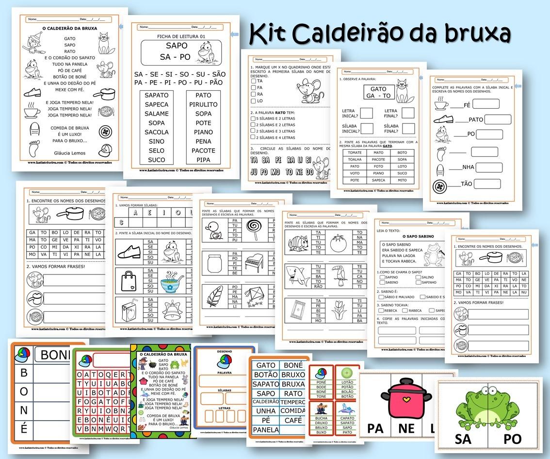 Foto 1 - Kit de Atividades de Alfabetização Caldeirão da Bruxa