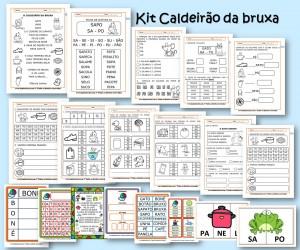 Kit de Atividades de Alfabetização Caldeirão da Bruxa