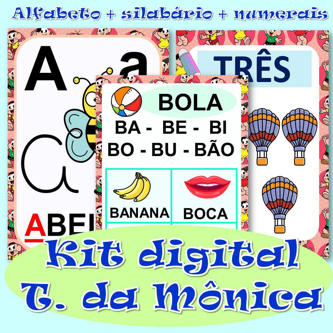 Foto 1 - Kit digital alfabeto, silabário + números de 0 a 20 em PDF