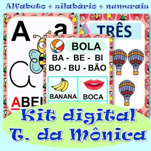 Foto1 - Kit digital alfabeto, silabário + números de 0 a 20 em PDF