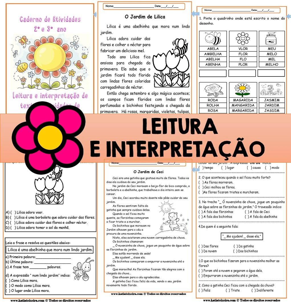 Foto 1 - Leitura e interpretação de textos, atividades de alfabetização