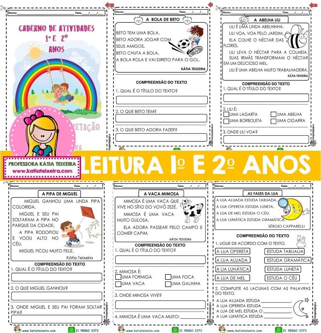 Foto 1 - Novo Caderno Leitura e Interpretação 1º e 2º anos