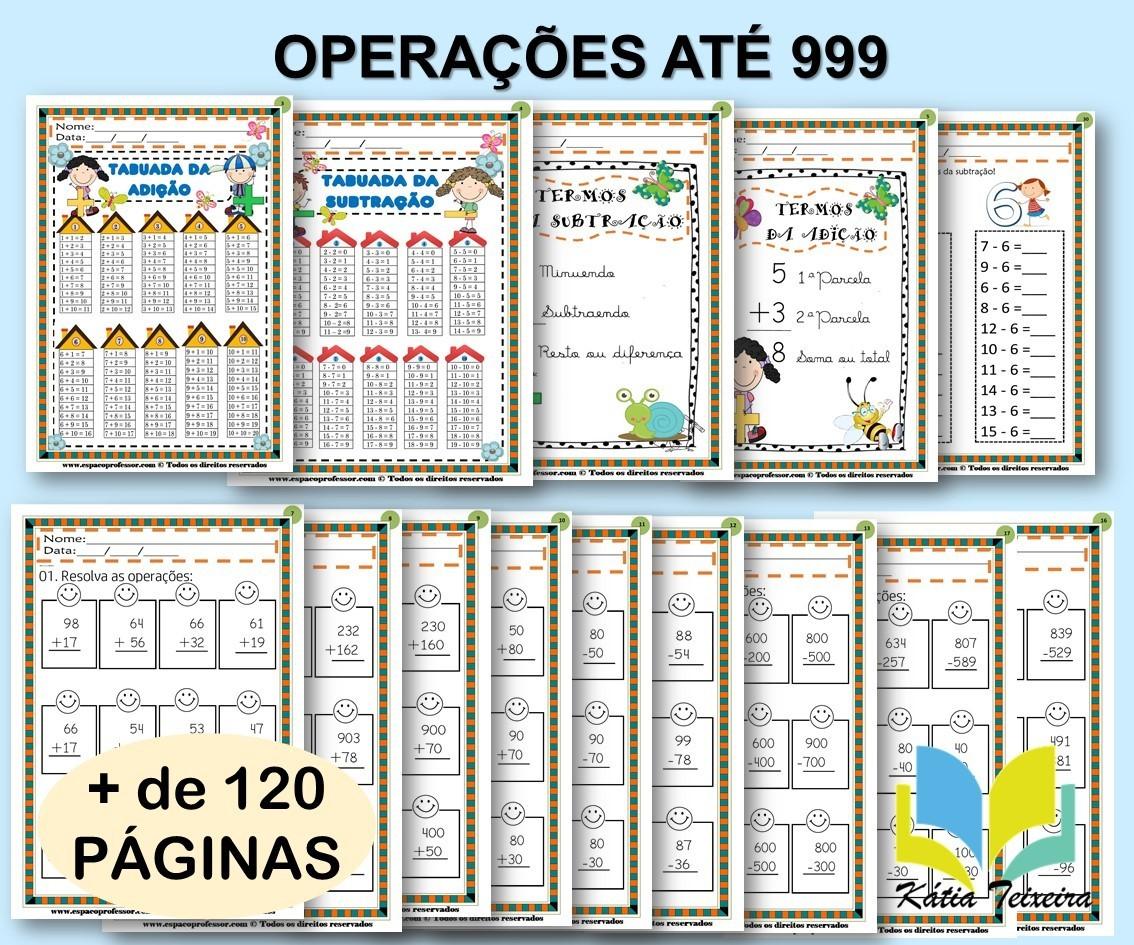 Foto 1 - Operações Matemáticas Adição e Subtração até 999