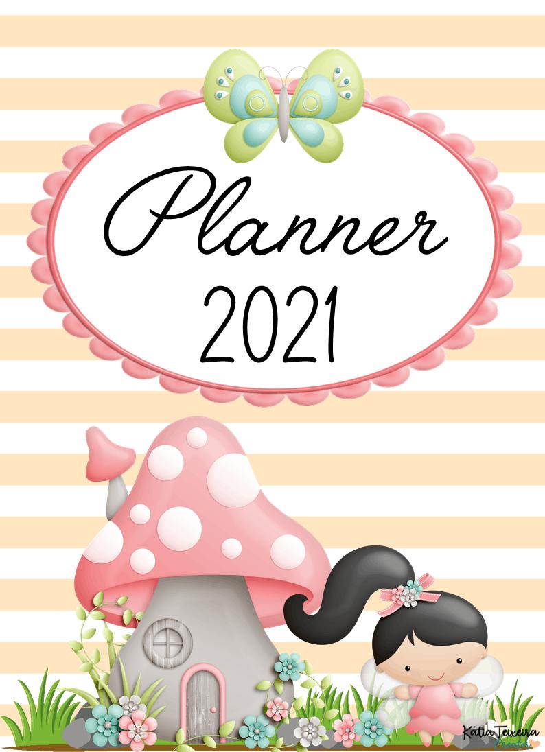 Foto5 - Planner 2021 Fadinhas M01 para imprimir