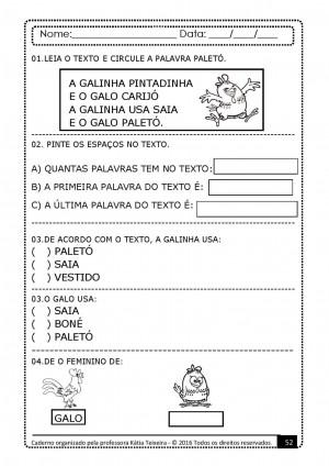 Foto6 - PROJETO DE ALFABETIZAÇÃO PALAVRAS GERADORAS COM 10 APOSTILAS