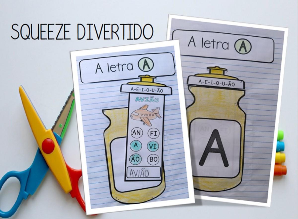 Foto 1 - Squeeze divertido: atividades letras, sílabas e palavras