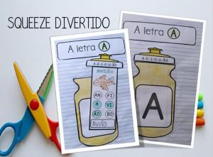 Foto1 - Squeeze divertido: atividades letras, sílabas e palavras
