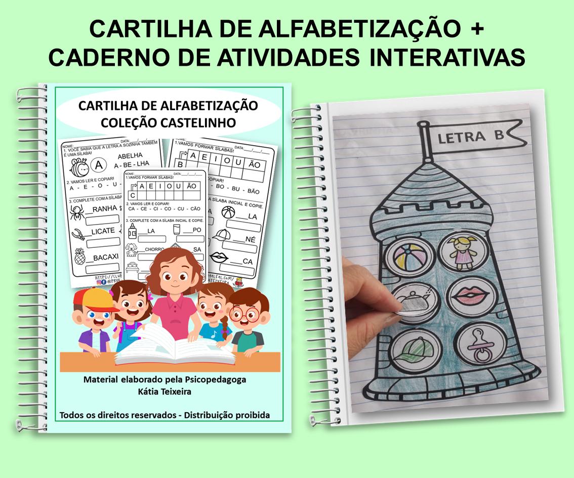 Imagem do produto Atividades interativas Castelinho de palavras + Cartilha de Alfabetização
