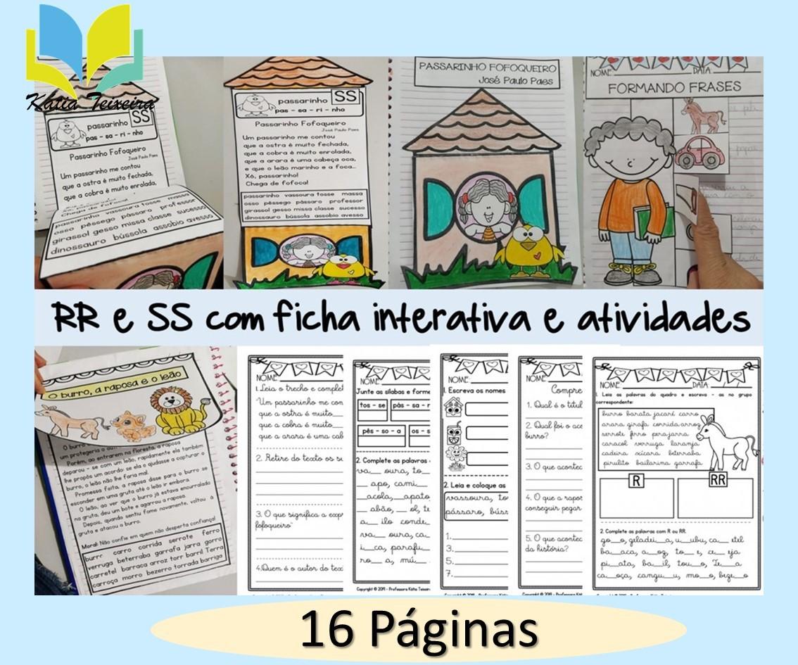 Imagem do produto Atividades RR, Atividades SS com ficha de leitura interativa
