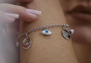 Foto1 - Pulseira Olho Grego - Coleção Elegance