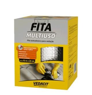 Foto 1 - Fita asfáltica aluminizada multi uso 10 m x 10 cm