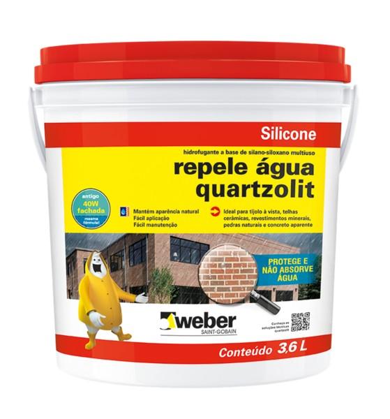 Foto 1 - Repele água Quartzolit - Hidrofugante de superfície à base de silano-siloxano disperso em água para fachadas