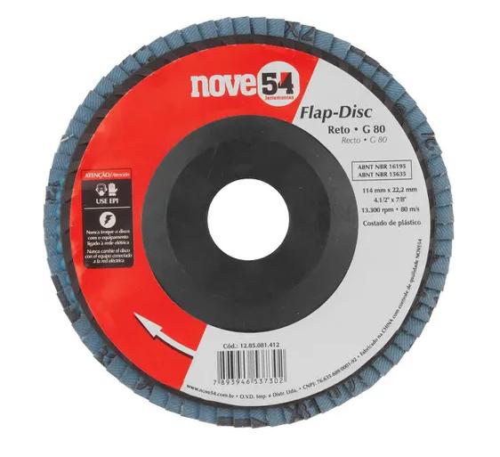 Foto 1 - Flap-Disc Reto 4.1/2? G80 Costado Plástico - Nove54