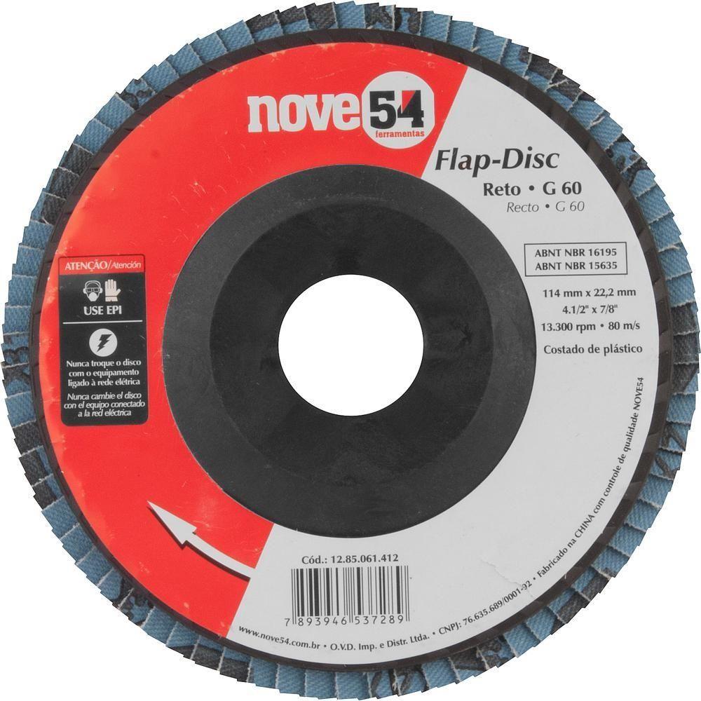 """Foto 1 - FLAP DISC RETO 4.1/2"""" G 60 (C.FIBRA)954"""