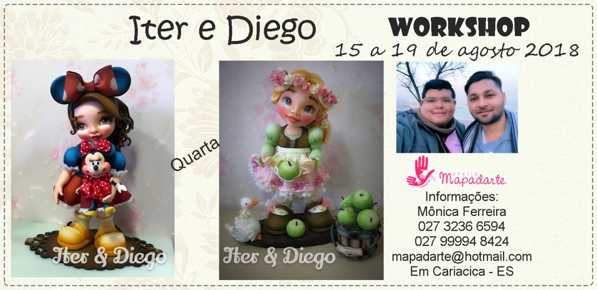 Foto2 - 01 Aula PRESENCIAL- Workshop Diego e Iterlano (01 aula a escolher)