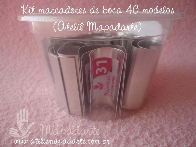 Foto2 - Cód M1000 Kit Marcador de boca com 40 peças (Modelos Ateliê Mapadarte)