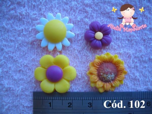 Foto 1 - Cód 102 Molde de flores
