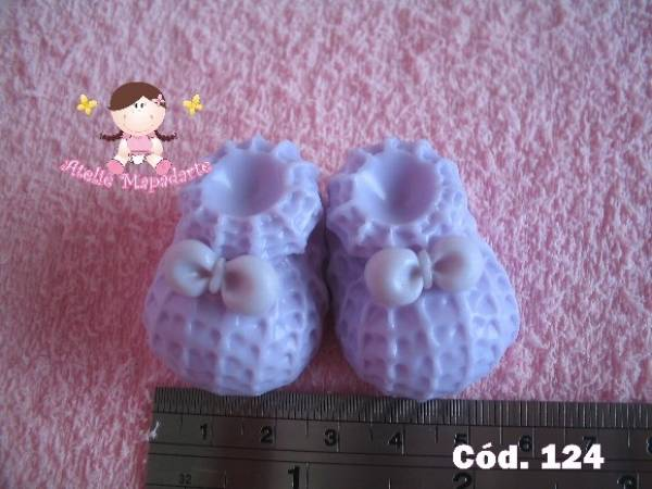 Foto 1 - Cód 124 Molde de sapato de crochê