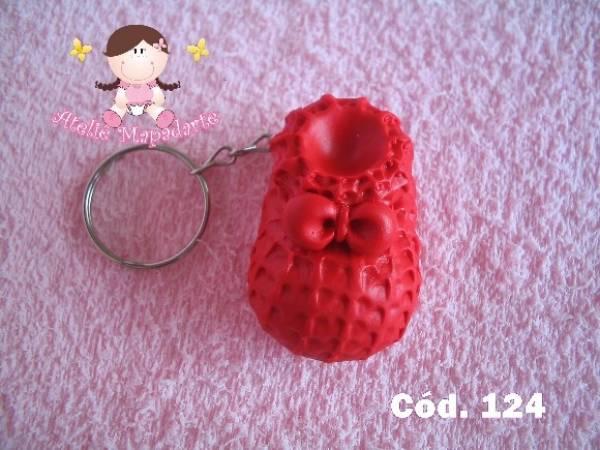Foto2 - Cód 124 Molde de sapato de crochê