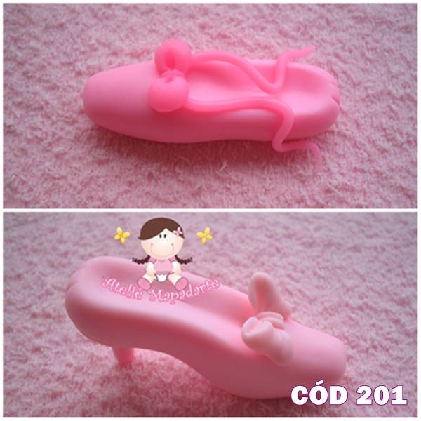Foto 1 - Cód 201 Molde de sapatilha lisa P