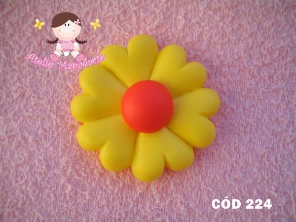 Foto 1 - Cód 224 Molde de flor coração
