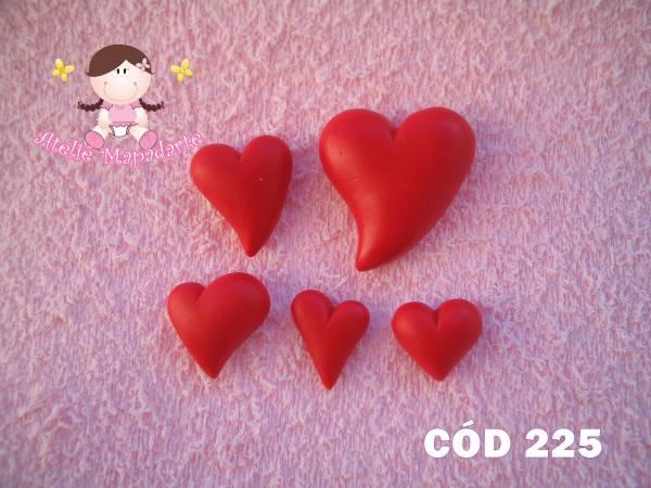 Foto 1 - Cód 225 Molde de coração com 5