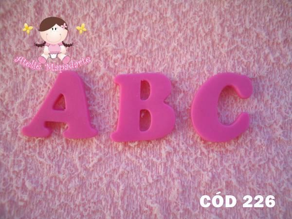 Foto 1 - Cód 226 Molde de silicone de alfabeto (Mod.02)