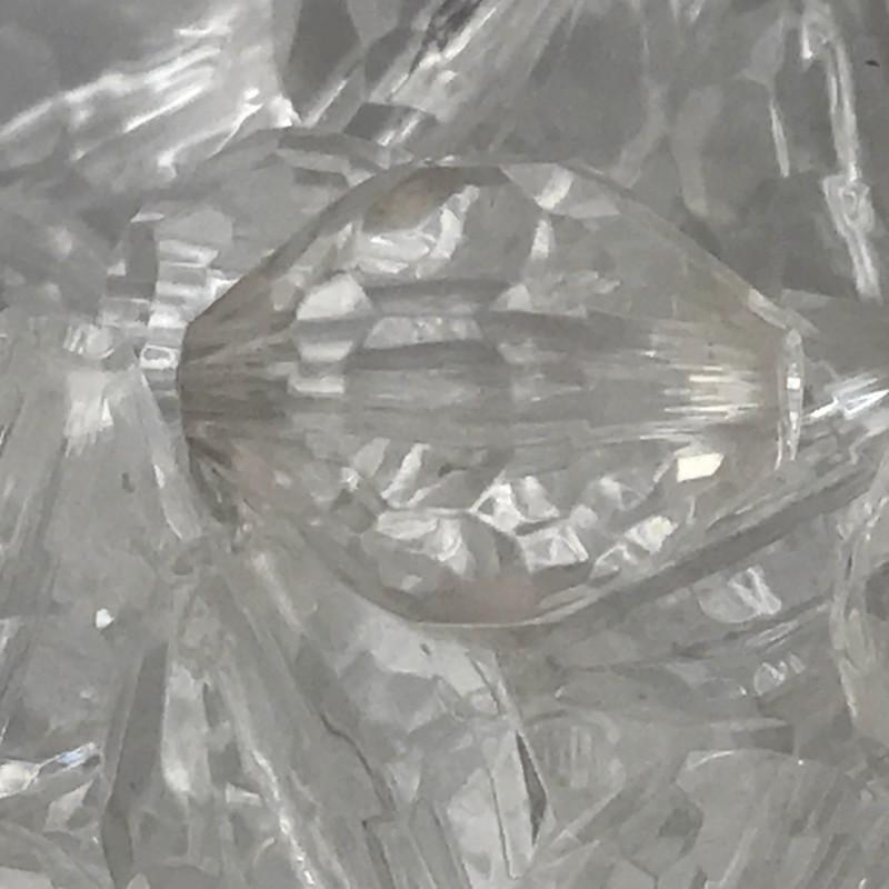 Foto 1 - Cód 2415 Pedra balão em acrílico cristal tam 15 com 10 un