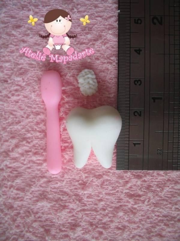 Foto2 - Cód 242 Molde de dente com escova P