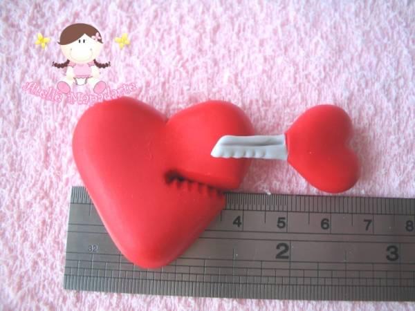 Foto2 - Cód 258 Molde de coração com chave