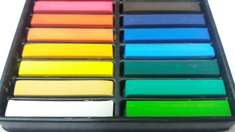 Foto2 - Cód M2900 Giz pastel seco cores básicas com 18 cores