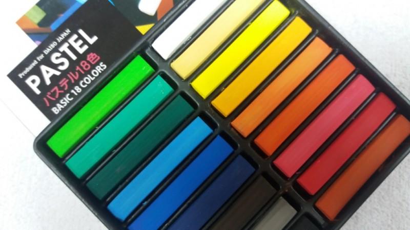 Foto 1 - Cód M2900 Giz pastel seco cores básicas com 18 cores