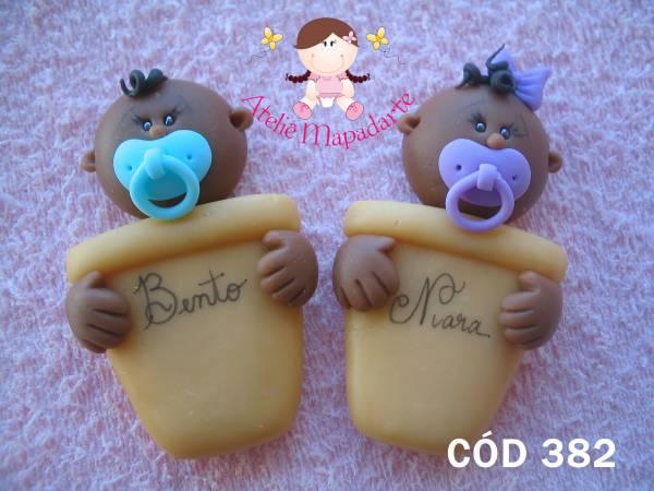 Foto 1 - Cód 382 Molde de lembranc. bebê no vaso