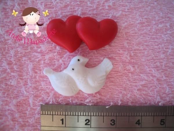 Foto2 - Cód 392 Molde pombo e coração