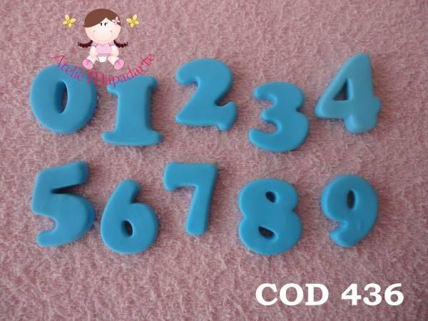 Foto 1 - Cód 436 Molde de números completo com 3 cm