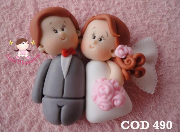 Foto 1 - Cód 490 Molde de casal de noivo