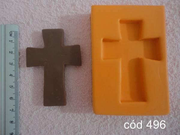 Foto 1 - Cód 496 Molde de cruz lisa