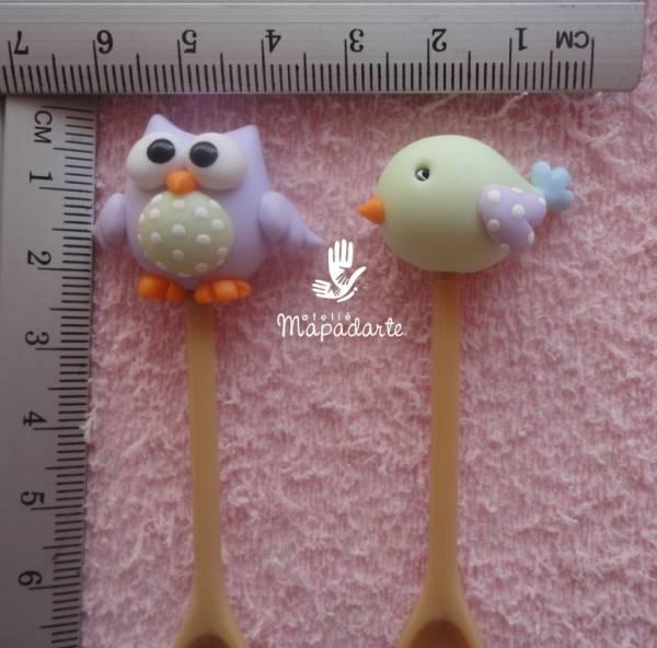 Foto3 - Cód 501 Molde de mini coruja e pássaro