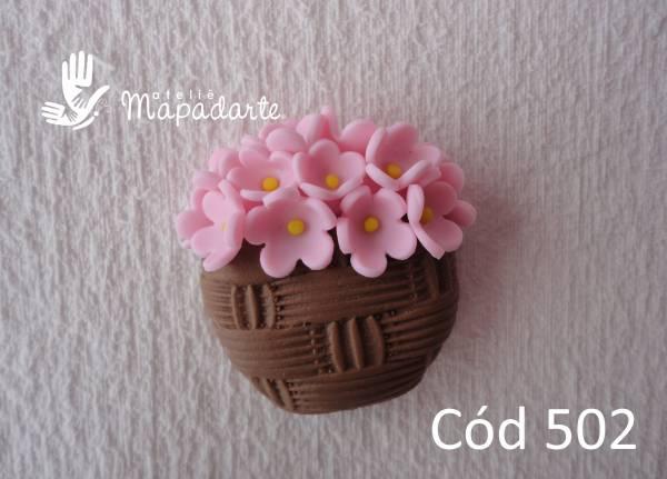 Foto 1 - Cód 502 Molde de vaso tipo cesta 1 un