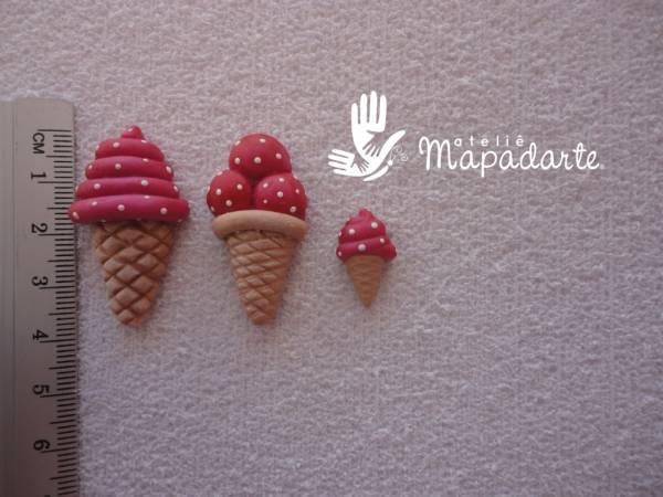Foto 1 - Cód 514 molde de sorvete com 3 pçs