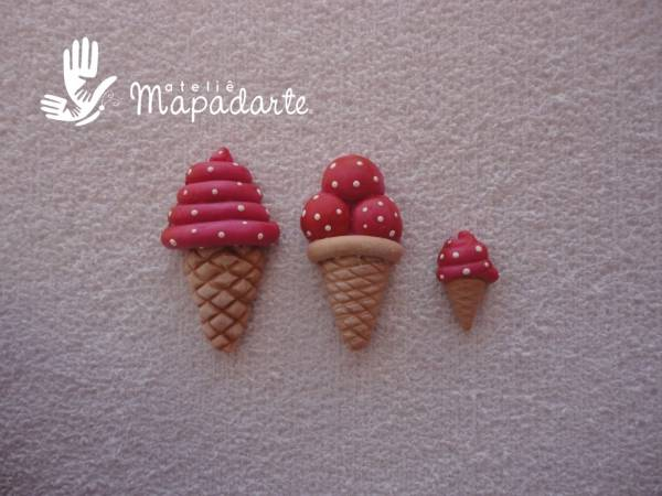 Foto2 - Cód 514 molde de sorvete com 3 pçs