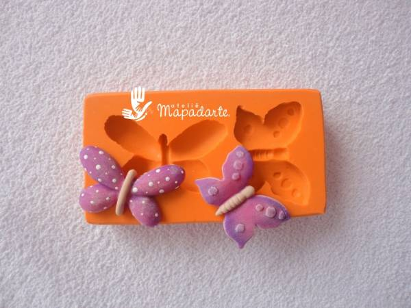 Foto3 - Cód 519 molde de borboleta com 2 pçs