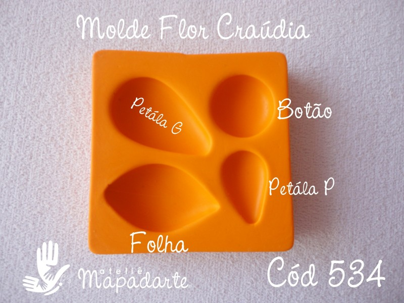 Foto4 - Cód 534 Molde flor de Craúdia G