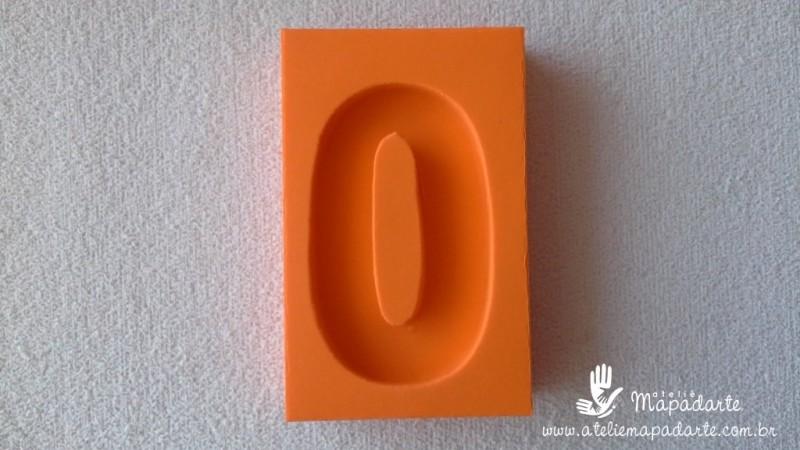 Foto2 - Cód 570 Molde de número Zero(0) modelo N1 (Para velas de biscuit)