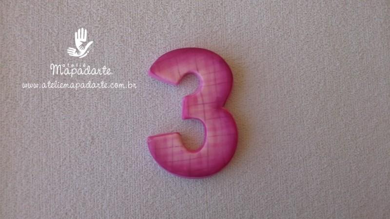 Foto 1 - Cód 573 Molde de número três(3) modelo N1 (Para velas de biscuit)