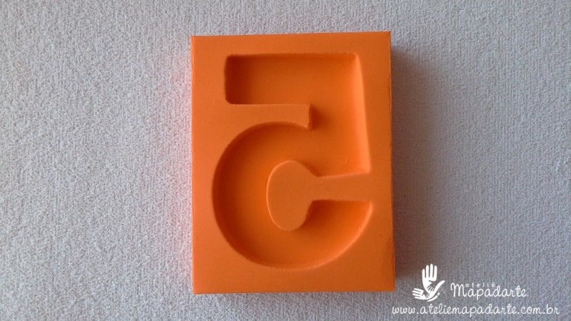 Foto2 - Cód 575 Molde de número cinco(5) modelo N1 (Para velas de biscuit)