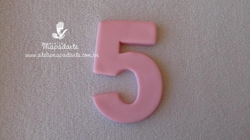 Foto 1 - Cód 575 Molde de número cinco(5) modelo N1 (Para velas de biscuit)